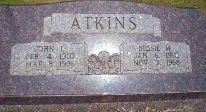 ATKINS, BESSIE M - Nevada County, Arkansas   BESSIE M ATKINS - Arkansas Gravestone Photos