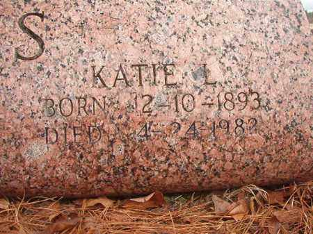 ATKINS, KATIE L - Nevada County, Arkansas | KATIE L ATKINS - Arkansas Gravestone Photos