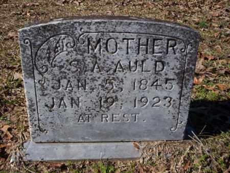 AULD, S. A. - Nevada County, Arkansas | S. A. AULD - Arkansas Gravestone Photos