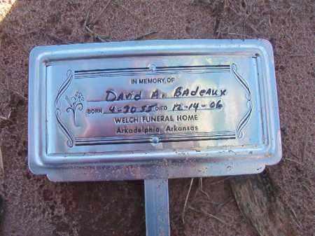 BADEAUX, DAVID A - Nevada County, Arkansas | DAVID A BADEAUX - Arkansas Gravestone Photos