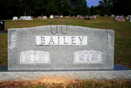 BAILEY, FRANKLIN LOGAN - Nevada County, Arkansas | FRANKLIN LOGAN BAILEY - Arkansas Gravestone Photos