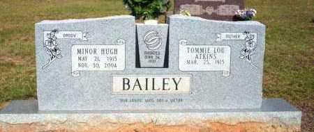 BAILEY, MINOR HUGH - Nevada County, Arkansas | MINOR HUGH BAILEY - Arkansas Gravestone Photos