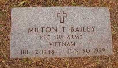 BAILEY (VETERAN VIET), MILTON T - Nevada County, Arkansas | MILTON T BAILEY (VETERAN VIET) - Arkansas Gravestone Photos