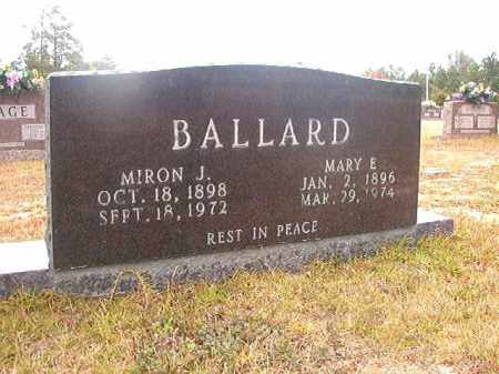 BALLARD, MARY E - Nevada County, Arkansas | MARY E BALLARD - Arkansas Gravestone Photos