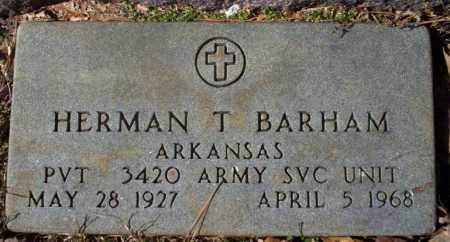 BARHAM  (VETERAN), HERMAN T - Nevada County, Arkansas | HERMAN T BARHAM  (VETERAN) - Arkansas Gravestone Photos