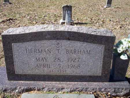 BARHAM, HERMAN T. - Nevada County, Arkansas | HERMAN T. BARHAM - Arkansas Gravestone Photos
