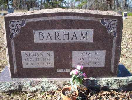 BARHAM, WILLIAM M - Nevada County, Arkansas | WILLIAM M BARHAM - Arkansas Gravestone Photos