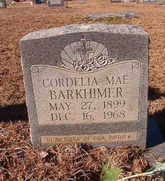 BARKHIMER, CORDELIA MAE - Nevada County, Arkansas | CORDELIA MAE BARKHIMER - Arkansas Gravestone Photos
