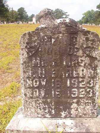 BARLOW, INFANT SON - Nevada County, Arkansas | INFANT SON BARLOW - Arkansas Gravestone Photos