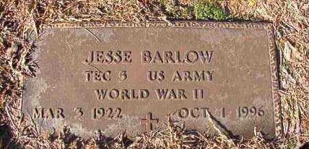 BARLOW (VETERAN WWII), JESSE - Nevada County, Arkansas | JESSE BARLOW (VETERAN WWII) - Arkansas Gravestone Photos