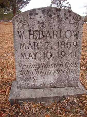 BARLOW, W H - Nevada County, Arkansas | W H BARLOW - Arkansas Gravestone Photos
