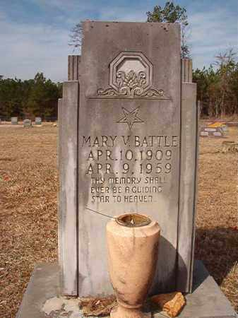 BATTLE, MARY V - Nevada County, Arkansas | MARY V BATTLE - Arkansas Gravestone Photos