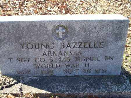 BAZZELLE  (VETERAN WWII), YOUNG - Nevada County, Arkansas | YOUNG BAZZELLE  (VETERAN WWII) - Arkansas Gravestone Photos