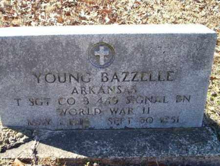 BAZZELLE  (VETERAN WWII), YOUNG - Nevada County, Arkansas   YOUNG BAZZELLE  (VETERAN WWII) - Arkansas Gravestone Photos