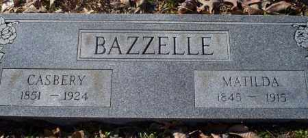 BAZZELLE, CASBERRY - Nevada County, Arkansas | CASBERRY BAZZELLE - Arkansas Gravestone Photos