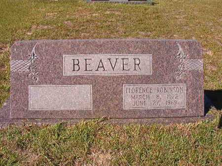 ROBINSON BEAVER, FLORENCE - Nevada County, Arkansas | FLORENCE ROBINSON BEAVER - Arkansas Gravestone Photos