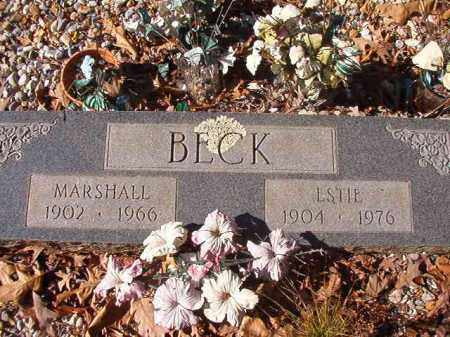 BECK, ESTIE - Nevada County, Arkansas | ESTIE BECK - Arkansas Gravestone Photos
