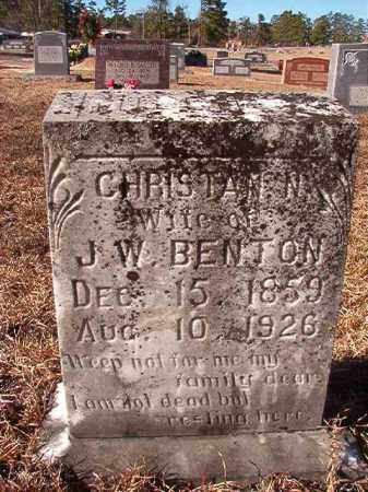 BENTON, CHRISTIAN N - Nevada County, Arkansas | CHRISTIAN N BENTON - Arkansas Gravestone Photos