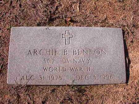 BENTON (VETERAN WWII), ARCHIE B - Nevada County, Arkansas | ARCHIE B BENTON (VETERAN WWII) - Arkansas Gravestone Photos
