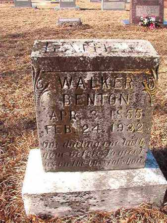 BENTON, WALKER - Nevada County, Arkansas | WALKER BENTON - Arkansas Gravestone Photos