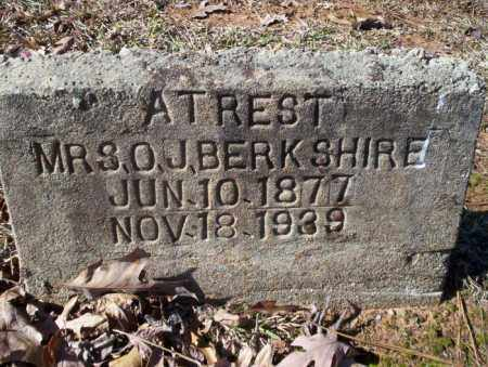 BERKSHIRE, O J, MRS - Nevada County, Arkansas | O J, MRS BERKSHIRE - Arkansas Gravestone Photos