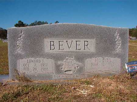 BEVER, EDWARD T - Nevada County, Arkansas | EDWARD T BEVER - Arkansas Gravestone Photos