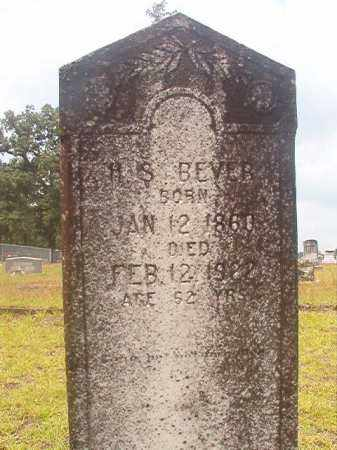 BEVER, H S - Nevada County, Arkansas | H S BEVER - Arkansas Gravestone Photos