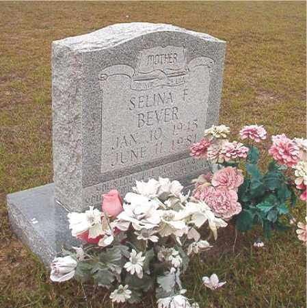 BEVER, SELINA F - Nevada County, Arkansas | SELINA F BEVER - Arkansas Gravestone Photos