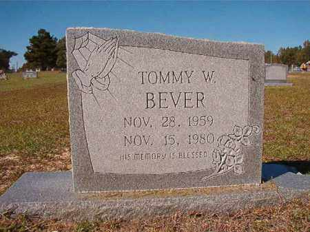 BEVER, TOMMY W - Nevada County, Arkansas | TOMMY W BEVER - Arkansas Gravestone Photos