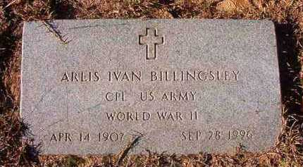 BILLINGSLEY (VETERAN WWII), ARLIS IVAN - Nevada County, Arkansas | ARLIS IVAN BILLINGSLEY (VETERAN WWII) - Arkansas Gravestone Photos