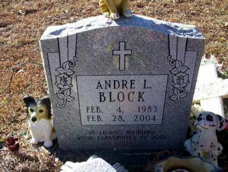 BLOCK, ANDRE L - Nevada County, Arkansas | ANDRE L BLOCK - Arkansas Gravestone Photos