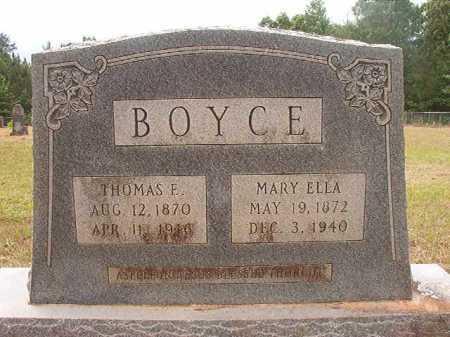 BOYCE, THOMAS E - Nevada County, Arkansas | THOMAS E BOYCE - Arkansas Gravestone Photos