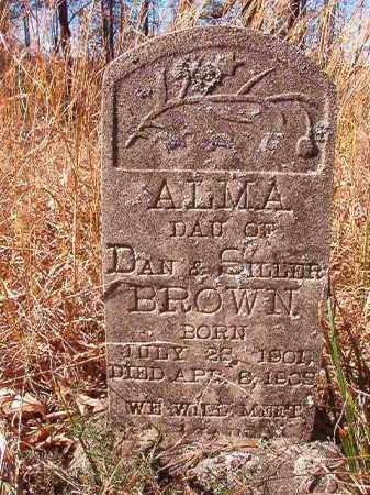 BROWN, ALMA - Nevada County, Arkansas | ALMA BROWN - Arkansas Gravestone Photos