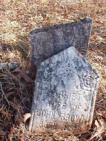 BROWN, HARRIET - Nevada County, Arkansas | HARRIET BROWN - Arkansas Gravestone Photos