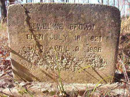 BROWN, JEWELINE - Nevada County, Arkansas | JEWELINE BROWN - Arkansas Gravestone Photos