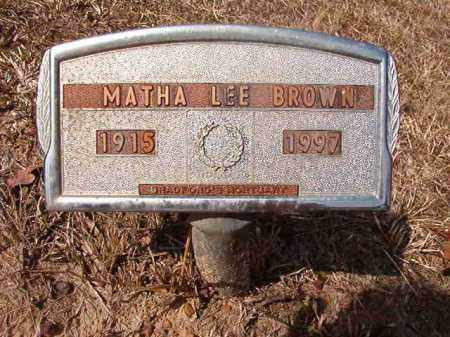 BROWN, MATHA LEE - Nevada County, Arkansas | MATHA LEE BROWN - Arkansas Gravestone Photos