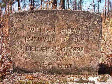 BROWN, WILLIAM - Nevada County, Arkansas | WILLIAM BROWN - Arkansas Gravestone Photos
