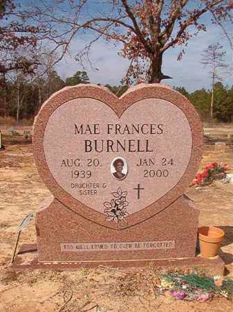 BURNELL, MAE FRANCES - Nevada County, Arkansas | MAE FRANCES BURNELL - Arkansas Gravestone Photos