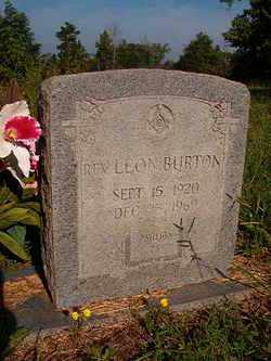 BURTON, REV, LEON - Nevada County, Arkansas | LEON BURTON, REV - Arkansas Gravestone Photos