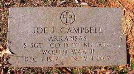 CAMPBELL (VETERAN WWII), JOE F - Nevada County, Arkansas | JOE F CAMPBELL (VETERAN WWII) - Arkansas Gravestone Photos