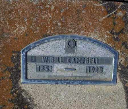 CAMPBELL, W. BILL - Nevada County, Arkansas | W. BILL CAMPBELL - Arkansas Gravestone Photos