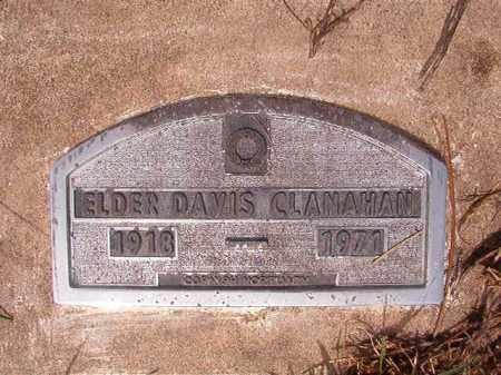 CLANAHAN, ELDER DAVIS - Nevada County, Arkansas | ELDER DAVIS CLANAHAN - Arkansas Gravestone Photos