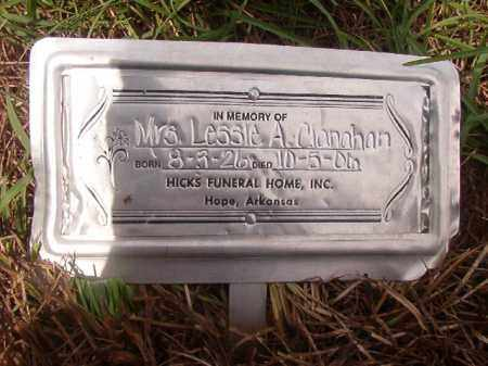 CLANAHAN, MRS. LESSIE A - Nevada County, Arkansas | MRS. LESSIE A CLANAHAN - Arkansas Gravestone Photos