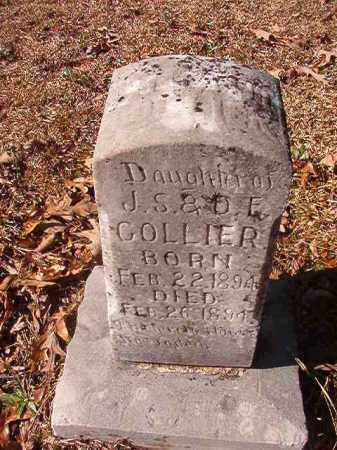 COLLIER, INFANT DAUGHTER - Nevada County, Arkansas | INFANT DAUGHTER COLLIER - Arkansas Gravestone Photos
