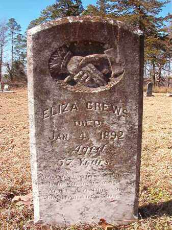 CREWS, ELIZA - Nevada County, Arkansas | ELIZA CREWS - Arkansas Gravestone Photos