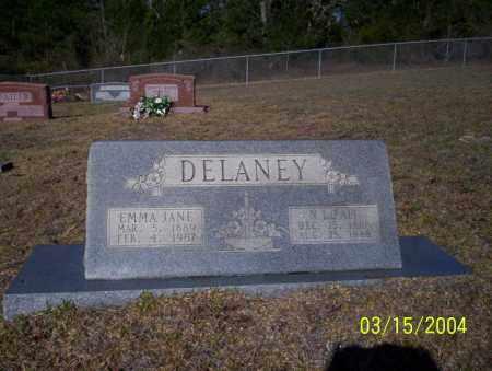 DELANEY, EMMA JANE - Nevada County, Arkansas | EMMA JANE DELANEY - Arkansas Gravestone Photos