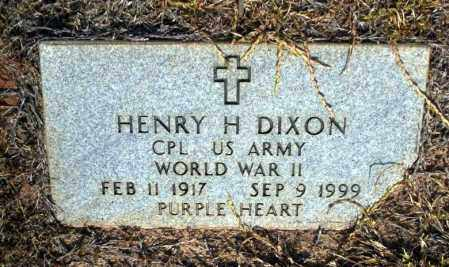 DIXON (VETERAN WWII), HENRY H - Nevada County, Arkansas | HENRY H DIXON (VETERAN WWII) - Arkansas Gravestone Photos