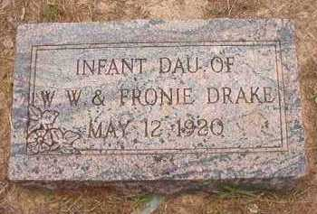 DRAKE, INFANT DAUGHTER - Nevada County, Arkansas | INFANT DAUGHTER DRAKE - Arkansas Gravestone Photos