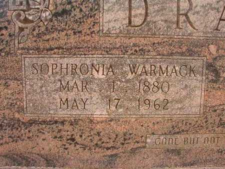 WARMACK DRAKE, SOPHRONIA - Nevada County, Arkansas | SOPHRONIA WARMACK DRAKE - Arkansas Gravestone Photos