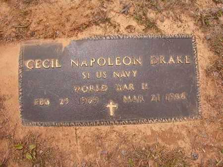 DRAKE (VETERAN WWII), CECIL NAPOLEON - Nevada County, Arkansas | CECIL NAPOLEON DRAKE (VETERAN WWII) - Arkansas Gravestone Photos
